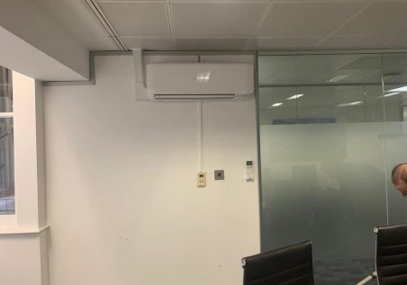 MHI 3.5kw air conditioning system installed in Mayfair London